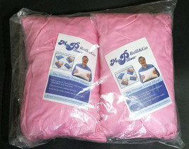 2 My Pillow Roll and Go Anywhere Travel Pillows w/ Pillow Cases, Prism Pink - $49.95