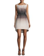 Halston Heritage Sleeveless Ombre Structured Dress, Buff/Black 0 $425 - $209.99