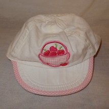 Hat Baseball Cap Flexible Bill Baby Girl Size 0 to 6 Months Cerry Basket... - $9.89