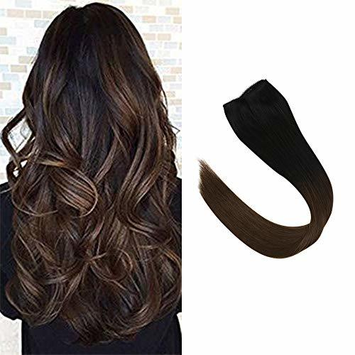 【New Year Off】Sunny Ombre Clip in Hair Extensions 16 Inch Human Hair One Piece O