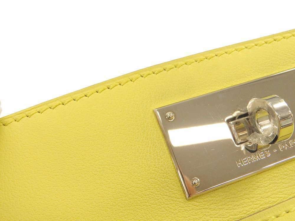 HERMES Toolbox 26 Veau Swift Soufre Handbag Shoulder Bag France #Q Authentic image 7