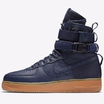 Nike Sf Air Force 1 Midnight NAVY/GUM Men Size 10 New 864024 400 - $140.24