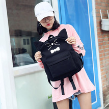 Korean Women School Backpack Canvas Backpacks For Youth Teenages Female ... - $40.05