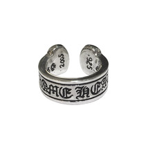 Chrome Hearts Silver Scroll Label Ring - $515.00