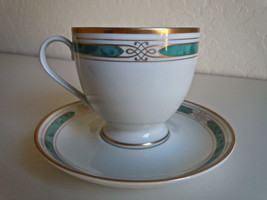 Gorham Regalia Court Teal Cup and Saucer Set - $6.30