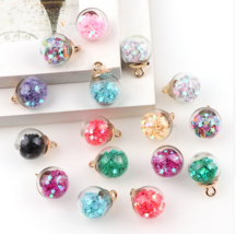 Transparent Glass Ball Star Charms Pendant Finding - $1.80