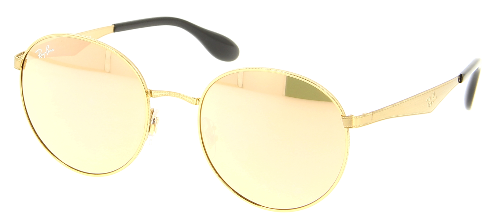 7ce24f60ed940 Ray Ban Round Metal Sunglasses RB 3537 c. 001 2Y Gold w  Copper