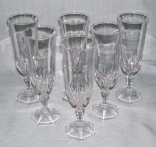 Cristal D'Arques Stemware-CHAUMONT Champagne Flutes/Glasses-Set 6- Franc... - $21.95