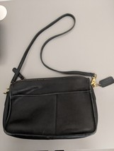 Vintage Coach 228-8826 Leather Black Crossbody Purse Shoulder Made in USA - £31.45 GBP