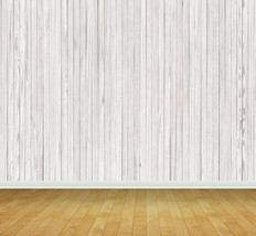 Whitewash Wooden Planks Backdrop Wall Art Mural Wall Paper Self Adhesive... - $47.43+