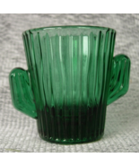 LIBBEY Cactus Southwestern GREEN Shot Glass or Toothpick Holder - $12.00