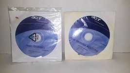 Vintage Acer Gridvista Installation Disk & Acer Monitor AL2223W User Manual CD - $11.88