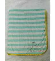 Carters Baby Blanket Green Striped Yellow Sherpa Giraffe Elephant Turtle... - $29.99