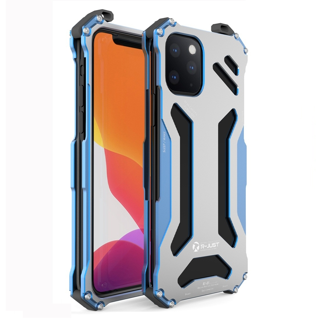 R-JUST Shockproof Armor Metal Case for iPhone 11 Pro Max