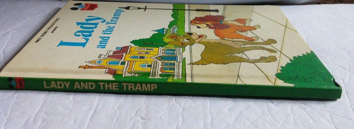 Walt Disney Productions Presents Lady and the Tramp  Hardcover Book 1981