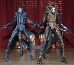 NECA 1986 ALIENS Movie XENOMORPH WARRIOR Horror Movie Action Figure Lot ... - $44.44