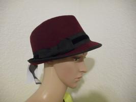 Women's Scala Pronto Solid Fedora Hat Burgandy  NEW - $18.80
