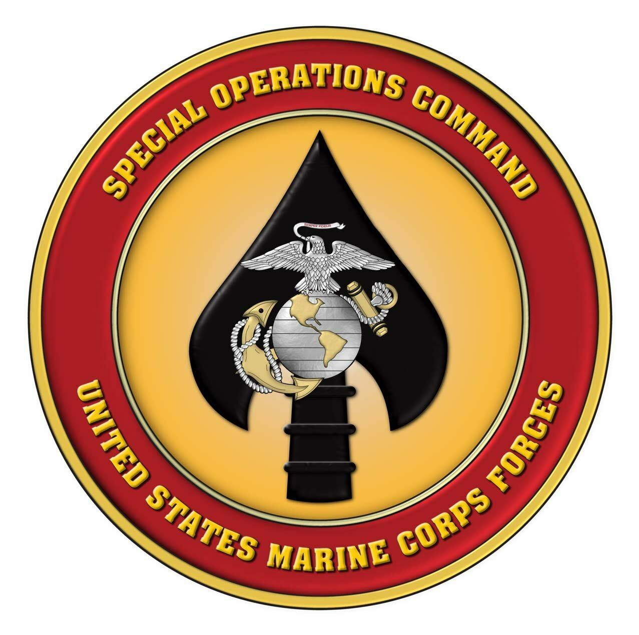 Primary image for MARINES MARSOC EMBLEM MILITARY RECON POSTER 24 X 24 Inches Looks Awesome!