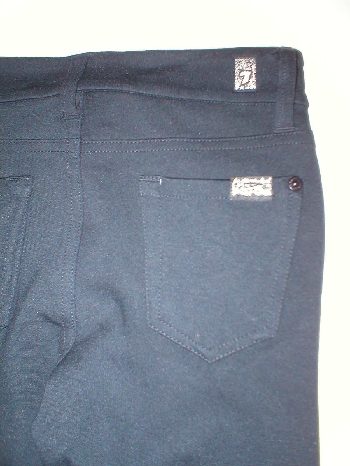 New Girls Jeans The Skinny 7 for all mankind 12 NWT Leggings Black Pants Rayon image 4