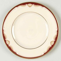 Pierce by LENOX Presidential, Maroon Band Pearl Tan Scrolls Dinner Plate... - $10.75