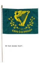 "12x18 12""x18"" Erin Go Bragh Irish Stick Flag 30"" wood staff - $18.00"