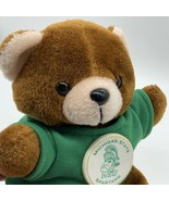 Michigan State Spartans Button Wearing Teddy Bear - $15.54
