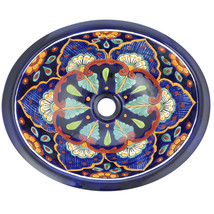 Mexican Ceramic Sink Decorative Handmade Hand painted #02 - $109.29