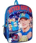 WWE Backpack John Cena Full Size Blue Canvas Backpack Book Bag NWT - $48.99