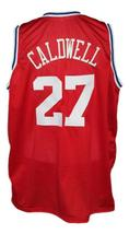 Caldwell Jones #27 Aba East Basketball Jersey New Sewn Red Any Size image 2