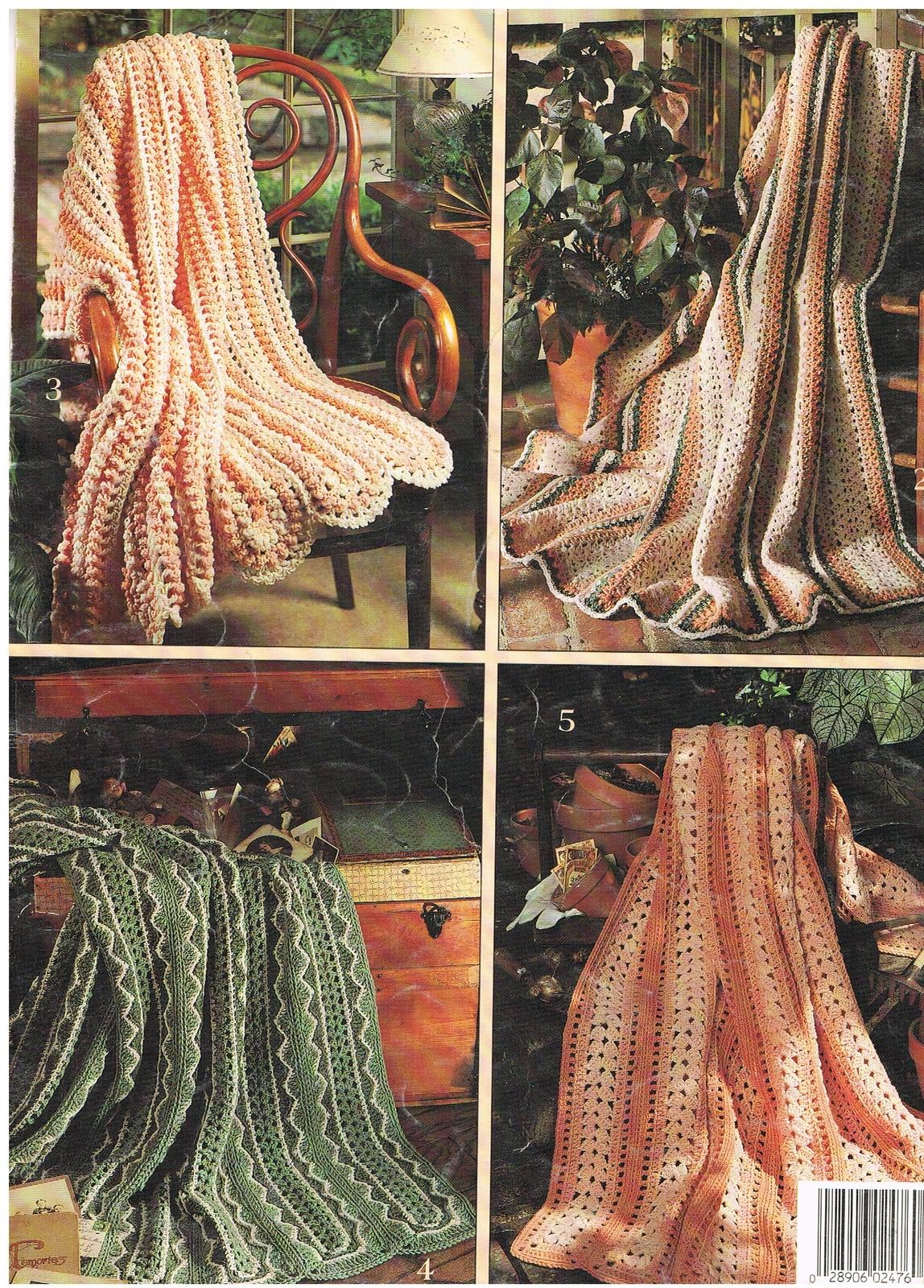 Afghan Crochet /& Knitting Pattern Booklets Leisure Arts Brunswick Columbia