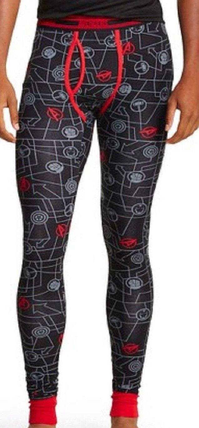 Long Underwear L 36 38 Large NEW Lounge Sleep Pants Marvel Avengers Cool Johns