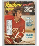 June 1974 issue of Hockey Digest-Tom Lysiak cover! - $1.98