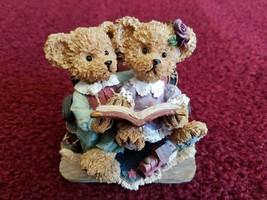 Home Interior Kuddles Korner Study Buddies Reading Bear Figurine - GUC!! - $4.25