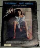 What A Feeling, Georgio Moroder, Irene Cara, 1983  OLD SHEET MUSIC - $5.93