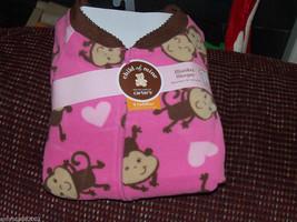 Carter's Pink Monkey Sleeper Size 4T Girl's NEW LAST ONE - $14.58
