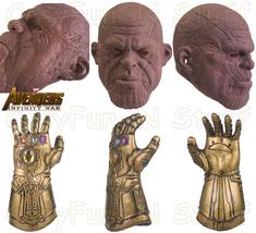 Thanos Infinity War Pink Face Mask Version & Infinity War Gauntlet Cosplay Props - $33.59+