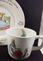 Wedgwood England Peter Rabbit Children 3 Piece Nursery story Set bowl plate cup image 4