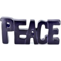 Vaneal Group Hand Carved Soapstone Purple PEACE Free-Standing Word Sign Decor