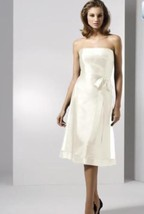 Dessy 2514......Tea-length, Strapless Dress.....Starlight......Sz 10 UK - $49.49