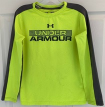Boys Youth Small Under Armour All Season Cold Gear Long Sleeve Neon Yell... - $14.84