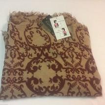 Cejon Womens Wrap Scarf Infinity Cowl Acrylic Fringes 35X23 DW491010 NWT - $16.50