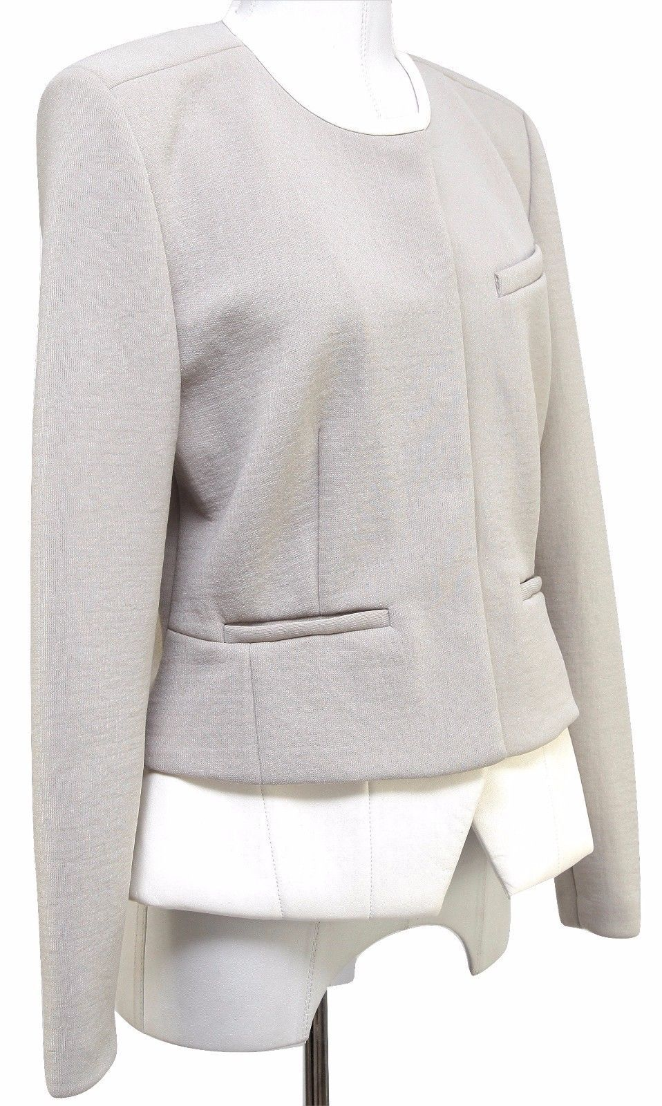 IRO CLYDE Jacket Coat Leather Beige Ivory Ecru Long Sleeve 42