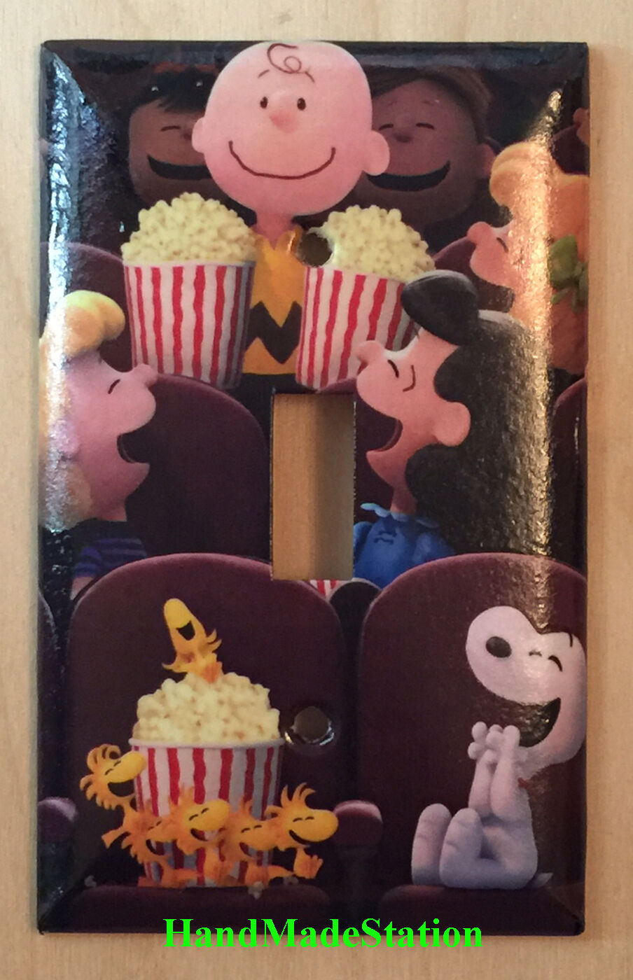 Peanuts Snoopy friends movie theater Light Switch Power Outlet wall Cover Plate