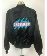 Vintage Cinemax Button Long Sleeve Spellout Embroidered Logo Jacket Medium - $48.37