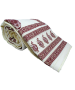 White 100 Percent Cotton Quilt For Sale Paisley Print Lightweight Bedspread - $120.00