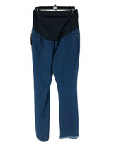 Isabel Maternity Women's Blue Cotton Blend Frayed Flare Jeans Size 6 NEW - $24.75