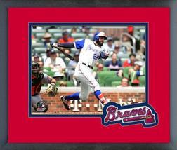 Nick Markakis 2018 Atlanta Braves Action -11x14 Team Logo Matted/Framed ... - $43.95