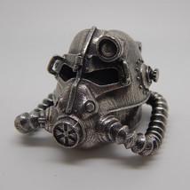 Fallout Wasteland brotherhood of steel helmet necklace pendant chain jew... - $89.00