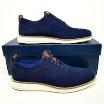 Cole Haan OriginalGrand Stitchlite Wingtip Oxfords Mens Size 7 Navy Blue... - $121.54