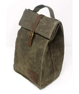 Insulated Waxed Canvas Lunch Bag For Men, Women | Perfect For Work - $28.34